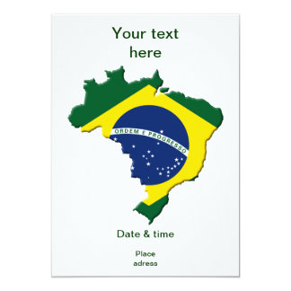 Carte du Brésil Invitations Personnalisées