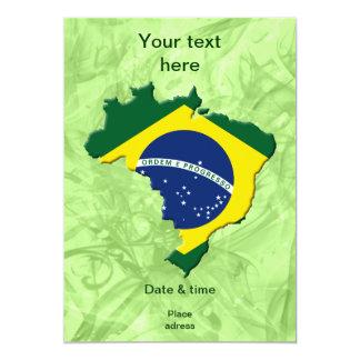 Carte du Brésil Faire-part Personnalisables