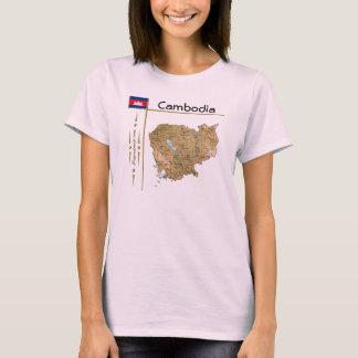 Carte du Cambodge + Drapeau + T-shirt de titre
