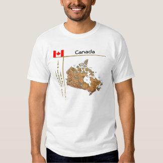 Carte du Canada + Drapeau + T-shirt de titre