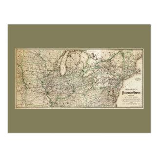Carte du chemin de fer de la Pennsylvanie (1871)