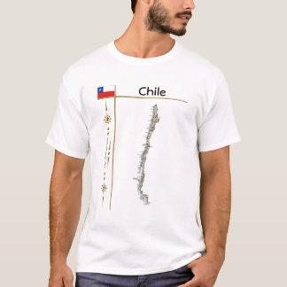 Carte du Chili + Drapeau + T-shirt de titre