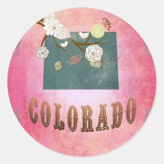 Carte du Colorado avec de beaux oiseaux