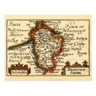 Carte du comté de Bedfordshire, Angleterre