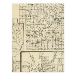 Carte du comté de Bond, Alton