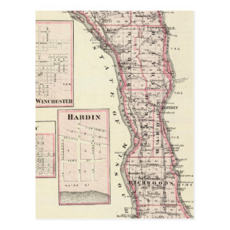 Carte du comté de Calhoun, Winchester Cartes Postales