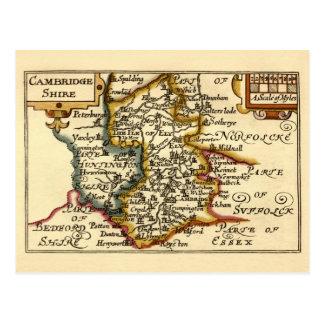 Carte du comté de Cambridgeshire, Angleterre
