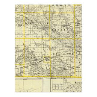 Carte du comté de Clay, de Flora et de Louisville