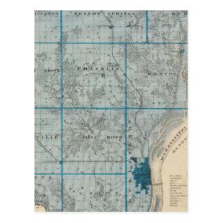 Carte du comté de Des Moines, état de l'Iowa