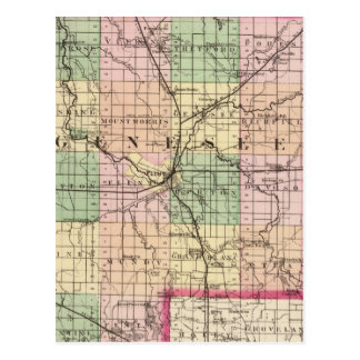 Carte du comté de Genesee, Michigan