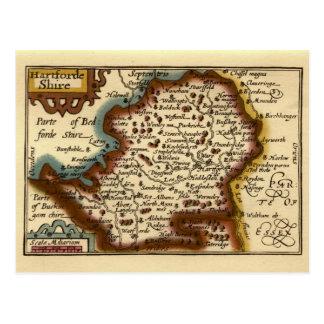 "Carte du comté de ""Hartfordeshire"" Hertfordshire"