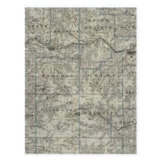 Carte du comté de Houston, Minnesota