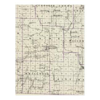 Carte du comté de Jasper, Lawrenceville
