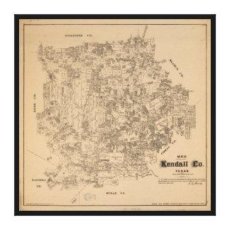 Carte du comté de Kendall, le Texas (1879) Toile
