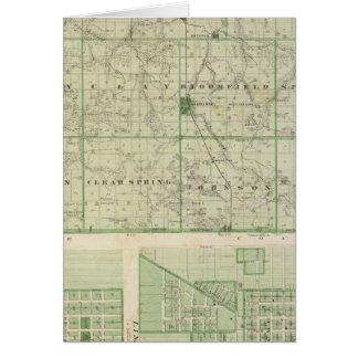 Carte du comté de Lagrange avec la grange de La,