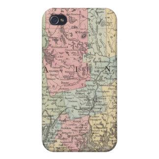 Carte du comté de l'état du Maine Étui iPhone 4