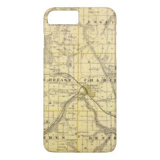Carte du comté de Lucas, état de l'Iowa Coque iPhone 8 Plus/7 Plus