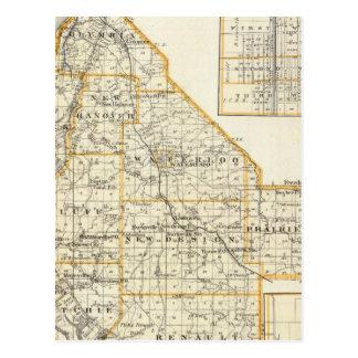 Carte du comté de Monroe, de DuQuoin et de