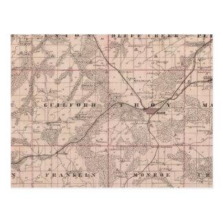 Carte du comté de Monroe, état de l'Iowa