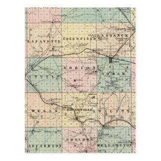 Carte du comté de Monroe, état du Wisconsin