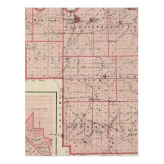 Carte du comté de Pike avec le plan de Pétersbourg