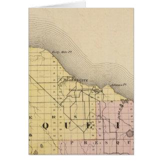 Carte du comté de Presque Isle, Michigan