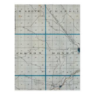 Carte du comté de Pulaski