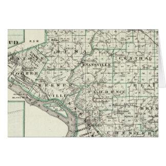 Carte du comté de Randolph, bourgeon rouge et de