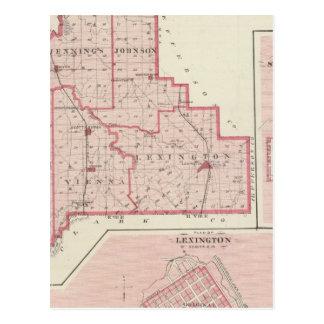Carte du comté de Scott avec Lexington, Scottsburg