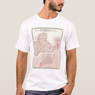 Carte du comté de Scott avec Lexington, Scottsburg T-shirt