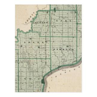 Carte du comté de Spencer