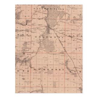 Carte du comté de Steele, Minnesota