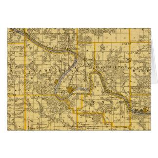 Carte du comté de Van Buren, état de l'Iowa