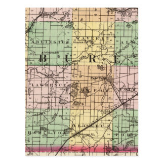Carte du comté de Van Buren, Michigan