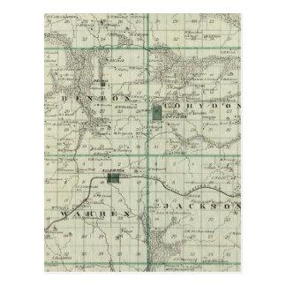 Carte du comté de Wayne, état de l'Iowa