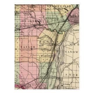 Carte du comté de Wayne, Michigan