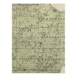 Carte du comté de Wright, Minnesota