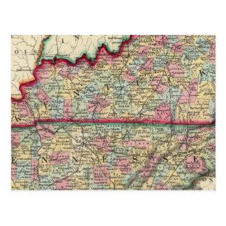 Carte du comté du Kentucky, et du Tennessee