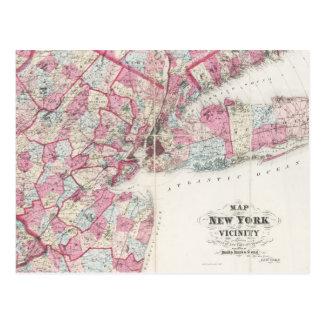 Carte du cru 1868 de New York