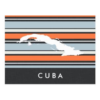 Carte du Cuba : Rayures modernes
