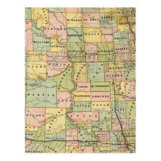 Carte du Dakota