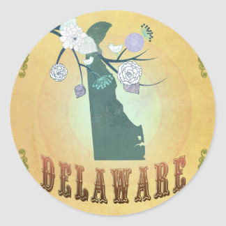 Carte du Delaware avec de beaux oiseaux