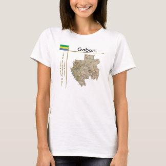 Carte du Gabon + Drapeau + T-shirt de titre