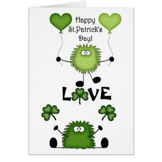 Carte du jour de Fuzzies de St Patrick mignon