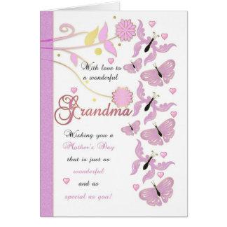 Carte du jour de mère de grand-maman avec des
