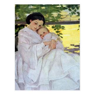 Carte du jour de mère de mère et de bébé cartes postales