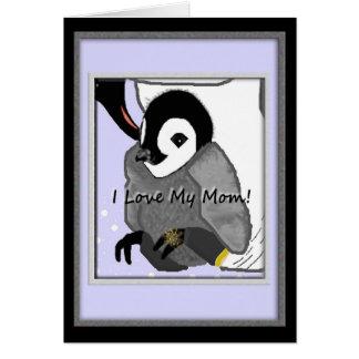 Carte du jour de mère de pingouin