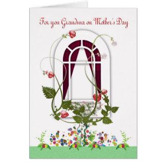 Carte du jour de mère - fleurs de grand-maman