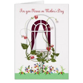 Carte du jour de mère - fleurs de Nana