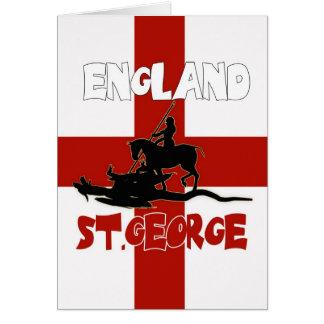 Carte du jour de St George - St George et dragon